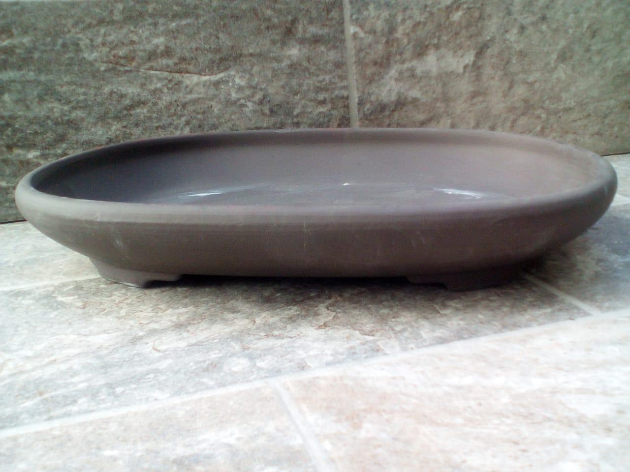 Japanese Unglazed Oval Bonsai Pot 28x20x4cm Bonsai Boyz